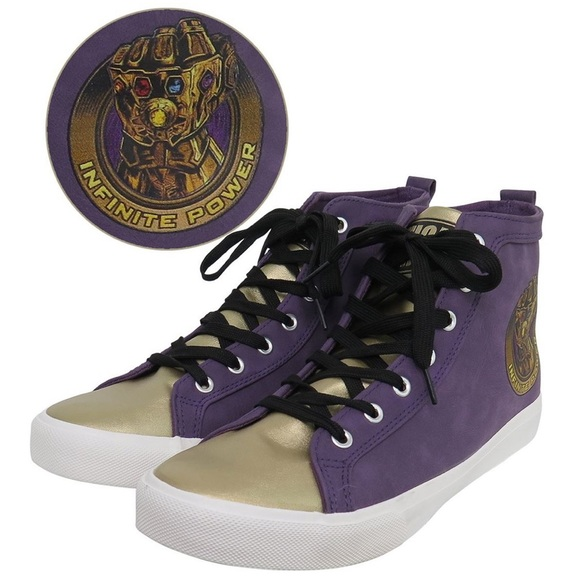 21e24838341 Marvel Comic Infinity War Thanos High Top Sneakers Boutique